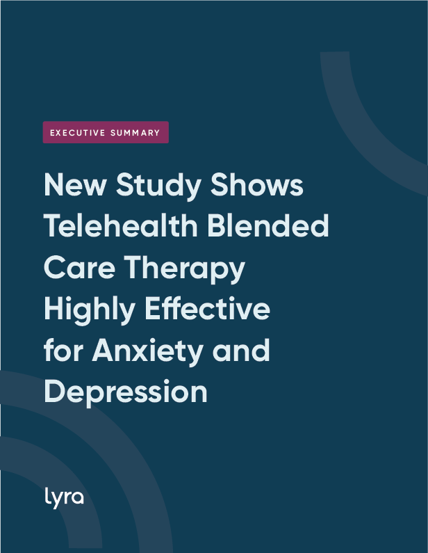 New Study Shows Telehealth Blended Care Therapy Highly Effective for Anxiety and Depression