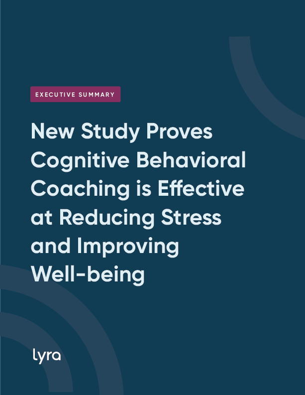 New Study Proves Cognitive Behavioral Coaching is Effective at Reducing Stress and Improving Well-being